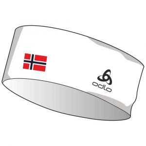 Odlo Bandeau competition team - White Norwegian Flag Blanc - Femme, Homme