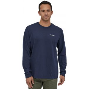Patagonia T-shirt M's L/S P-6 Logo Responsibili-Tee Bleu - Taille XXL,S,L