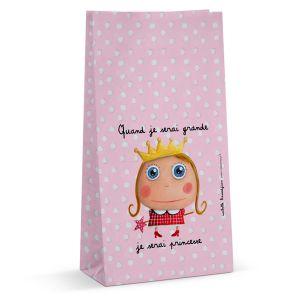 6 sachets en papier collection Petite Princesse