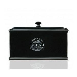 Premier housewares Boîte à Pain en Céramique Noir Vintage