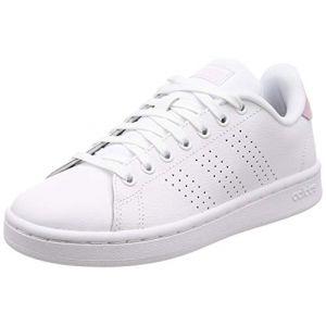 Adidas Advantage, Chaussures de Fitness Femme, Blanc FTW Bla/Grasua 000, 38 EU