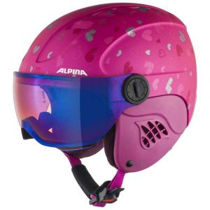Alpina Casques Carat Le Visor Hm Junior - Berry / Hearts Matt - Taille L