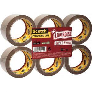 Scotch Rouleaux adhésif d'emballage 66m - Polypropylène acrylique - Lot de 6