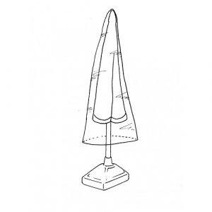 Hexoutils Housse de protection renforcée pour parasol droit - Ø 45x H190cm