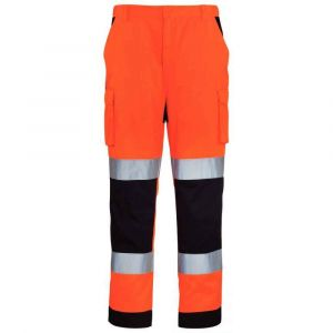 Euro Protection Pantalon Patrol HV orange fluo navy taille L : 7PAOPL