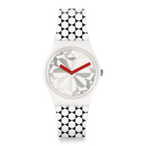 Swatch Mixte Analogique Quartz Montre avec Bracelet en Silicone GW186
