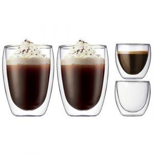 Bodum Pavina - Coffret 2 x 2 verres double paroi