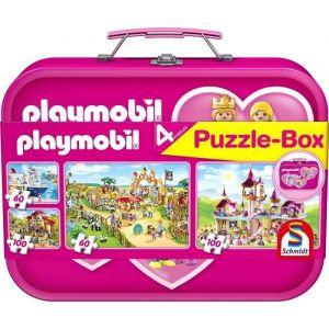 Schmidt 56498 - Puzzle playmobil 2x60 / 2x100 pièces