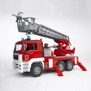 Bruder Toys Camion de pompier MAN avec girophare, lance et lumière