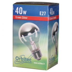Orbitec Ampoule incandescente standard E27 - 40 W - 230 V - calotte argentée - Incandescente standard, flamme