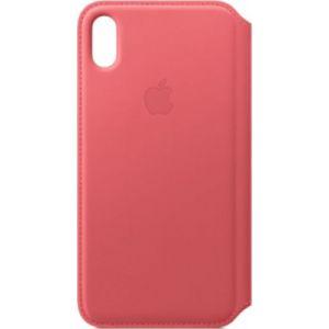Apple Etui iPhone XS Max cuir Rose pivoine