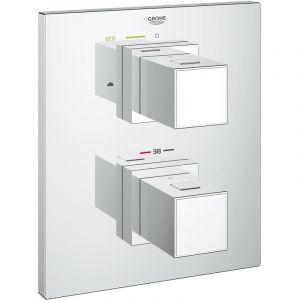 Grohe Grohtherm Cube - Set de finition pour mitigeur thermostatique 2 sorties pour bain/douche (19958000)