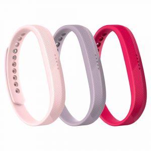 Fitbit Pièces détachées Flex 2 Classic Bands 3-pack - Magenta / Lavender / Blush Pink - Taille L