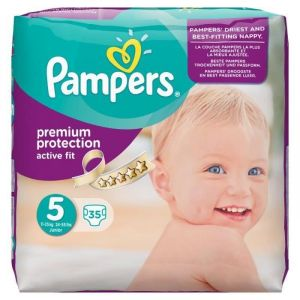 Pampers Active Fit taille 5 Junior 11-25 kg - 35 couches