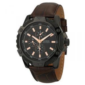 Guess W16579G1 - Montre pour homme avec bracelet en cuir