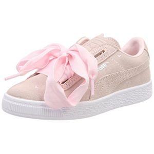Puma Suede Heart Valentine PS, Sneakers Basses Fille, Rose (Pearl-Pearl), 30 EU