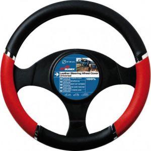 couvre volant SPEED noir/rouge citroen c2 c3 c4 diamètre volant 37/39cm