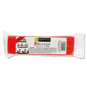 Patisdécor Pâte à sucre - rouge - 100g