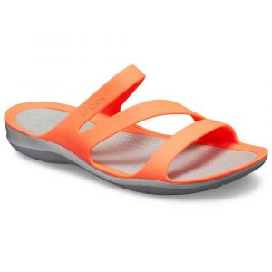 Crocs Tongs Swiftwater Sandal - Bright Coral / Light Grey - EU 41-42
