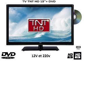 Antarion Télévision LED 48cm + DVD 12V /220V camping car
