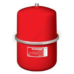 vase d-expansion à membrane fixe. raccordement par le dessus flexcon 2-25 réf. flexcon 18 diamètre : m 3-4 18 l 1 bar