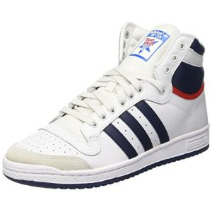 Adidas Top Ten Hi Blanche Bleue Et Rouge Femme 37 1/3 Baskets