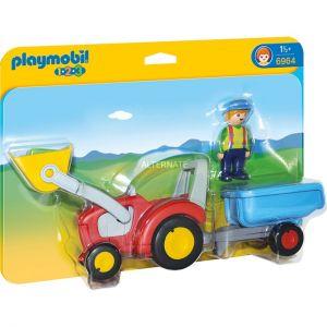 Playmobil 6964 - Tracteur avec godet 1.2.3.