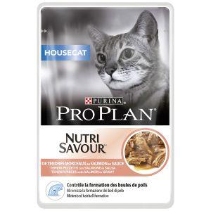 Purina Nutrisavour Housecat Saumon - 10 sachets de 85 g