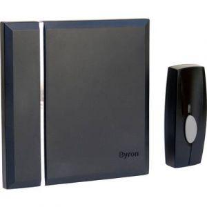 Byron Carillon sans fil avec 4 mélodies Noir