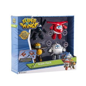 Auldey Super Wings 12 cm - Coffret de 4 Transforming