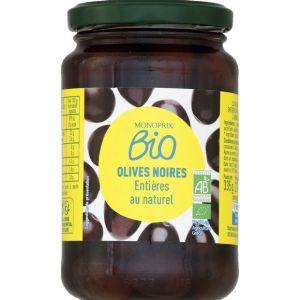 Monoprix Bio Olives noires entières au naturel bio