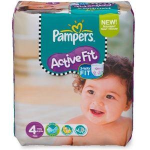 Pampers Active Fit taille 4 Maxi (7-18 Kg) - Pack économique x 168 couches