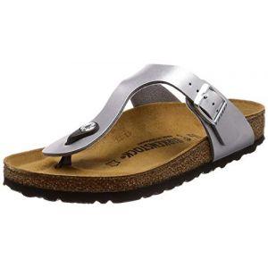 Birkenstock Gizeh Birko Flor Womens Sandals 36 EU Silver