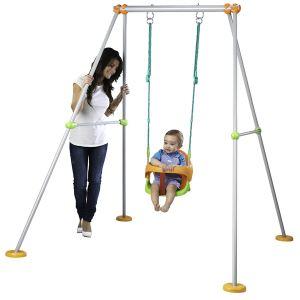 Smoby Baby Swing - Portique en métal pour bébé H 120 cm