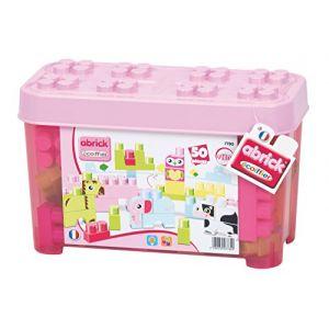 Ecoiffier 7780 - Briques de construction Abrick : Baril animaux rose
