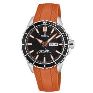Festina Montre Originals F20378-5 - Montre Dateur Orange Homme