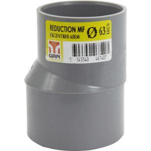 GIRPI Réduction extérieure excentrée Mâle / Femelle Diamètre 63 - 50 mm