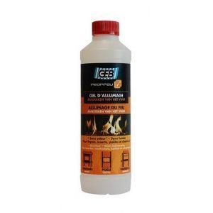 Geb Propfeu gel d'allumage de foyer insert : Flacon 500 ml -