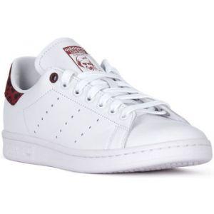Adidas Stan Smith W, Chaussures de Gymnastique Femme, Blanc Collegiate Burgundy/FTWR White, 40 2/3 EU