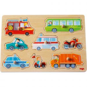 Haba Le monde des véhicules - Puzzle 8 pièces