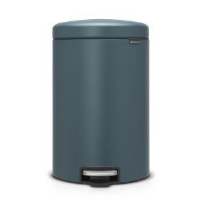 Brabantia Poubelle à Pédale newIcon, 20 litres, Mineral Reflective Blue - 115929