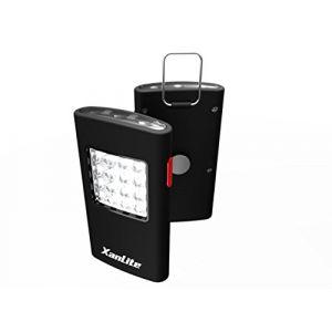 Xanlite LP1016 Torches à Piles 16 LED Plastique, Noir/Rouge, 105 x 58 x20 mm