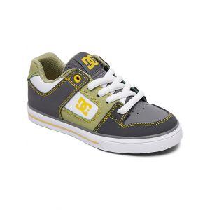 DC Shoes Baskets basses enfant PURE Gris - Taille 36,37,38,39,34,35