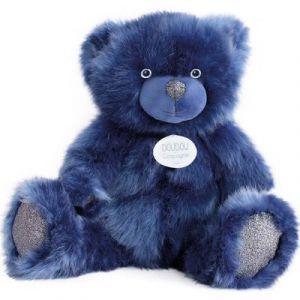 Doudou et Compagnie Peluche Ours collection 40 cm bleu nuit