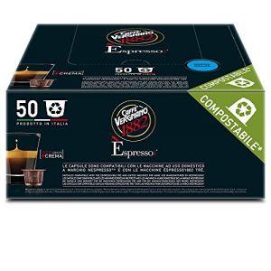 Caffe Vergnano Pack de 50 Capsules Compatibles Nespresso Espresso Decaffeinato Caffè 7,4 g