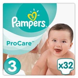 Pampers ProCare Premium Protection taille 3 (5-9 kg) - 32 couches
