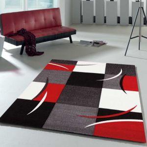 Tapis salon noir et rouge - Comparer 268 offres