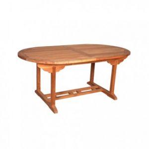 Baya - Table de jardin ovale en teck huilé 180/240 x 100 x 75 cm