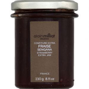 Alain Milliat Confiture extra fraise - Le bocal de 230g