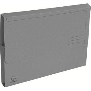 Exacompta 47678E - Paquet de 50 chemises poches FOREVER, coloris gris